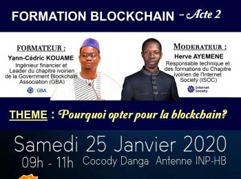 """FORMATION ISOC CÔTE D'IVOIRE """" BLOCKCHAIN (Acte 2)"""" – Le 25 janvier 2020"""